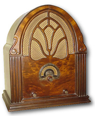 Antique Clarion Cathedral Radio